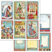 Хартия за скрапбукинг - Коледни катрички