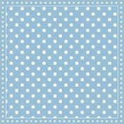 Салфетки за декупаж - Син фон на бели точки - Пакет от 20 броя