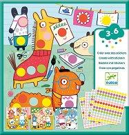 Декорирай със стикери - Забавни животни - Творчески комплект -