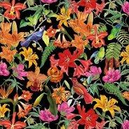 Салфетки за декупаж - Пъстри цветя и птици - Пакет от 20 броя