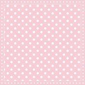 Салфетки за декупаж - Розов фон на бели точки - Пакет от 20 броя