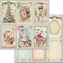 Хартия за скрапбукинг - Коледни картички