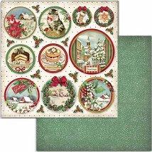 Хартия за скрапбукинг - Коледни орнаменти