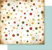 Хартия за скрапбукинг - Цветни точици