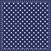 Салфетки за декупаж - Тъмно син фон на бели точки - Пакет от 20 броя