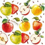 Салфетки за декупаж - Ябълки - Пакет от 20 броя