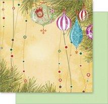 Хартия за скрапбукинг - Коледна украса - Размери 30.5 х 30.5 cm