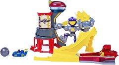Пес Патрул - Могъщ метеор - Писта с изстрелвачка с метална количка - играчка