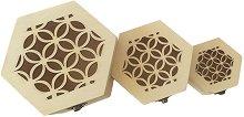 Дървени кутии с орнаменти