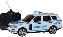 Полицейски джип - Количка с дистанционно управление със светлинни и звукови ефекти -