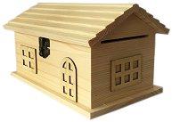 Дървена кутия със закопчалка - Къща