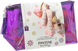 Pantene Hair Biology Full & Vibrant - Подаръчен комплект с козметика за коса - маска