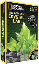 Лаборатория за флуоминесцентни кристали - Детски образователен комплект - количка