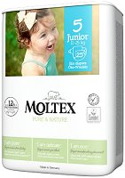 Moltex Pure & Nature 5 - Junior - Еко пелени за еднократна употреба за бебета с тегло от 11 до 25 kg -