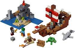"""Приключение с пиратски кораб - Детски конструктор от серията """"LEGO Minecraft"""" -"""