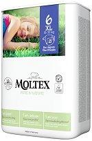Moltex Pure & Nature 6 - XL - Еко пелени за еднократна употреба за бебета с тегло от 16 до 30 kg -