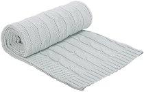 Бебешко плетено одеяло - 100% памук с размери 75 x 100 cm -
