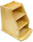 Дървен органайзер