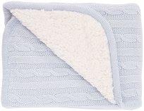 Бебешко двулицево плетено одеяло - С размери 75 x 100 cm -