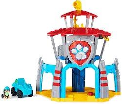 """Щаб квартира - Dino Rescue - Детски комплект за игра с фигурка, светлинни и звукови ефекти : От серията""""Пес патрул"""" - играчка"""