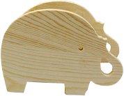 Дървен моливник - Слонче