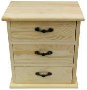 Дървено шкафче с 3 чекмеджета