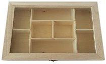 Дървена кутия с 8 разделения
