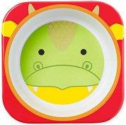 """Детска меламинова купичка - Дракончето Дилън - За бебета над 6 месеца от серията """"Zoo"""" -"""