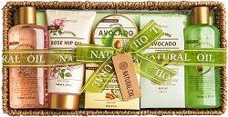 IDC Institute Natural Oil - Подаръчен комплект с козметика за тяло -