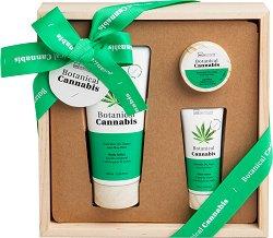 IDC Institute Botanical Cannabis - Подаръчен комплект козметика с масло от коноп -