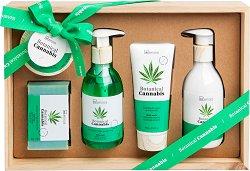 IDC Institute Botanical Cannabis - Подаръчен комплект козметика с масло от коноп - продукт