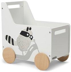 Дървен кош за играчки - Racoon -