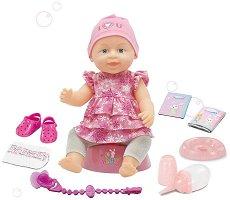 Пишкаща кукла бебе - Интерактивна играчка с 12 функции -