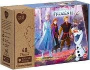 """Замръзналото кралство 2 - Комплект от 3 пъзела от колекцията """"Clementoni: Play for Future"""" - пъзел"""