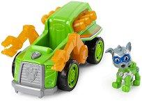 """Боклукчийският камион на Роки - Играчка със светлинни и звукови ефекти от серията """"Пес патрул"""" - фигура"""