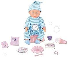 Пишкаща и плачеща кукла бебе - Комплект с аксесоари -