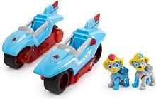 """Супер лапи - Могъщи близнаци - Детски комплект за игра с pull-back механизъм, светлинни и звукови ефекти : От серията """"Пес патрул"""" - топка"""
