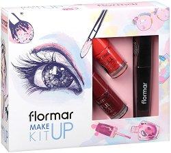 Подаръчен комплект - Flormar Make up Kit - Спирала и 2 лака за нокти -