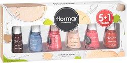 Подаръчен комплект с лакове за нокти - Flormar - Опаковка от 6 броя -