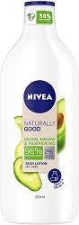 Nivea Naturally Good Natural Avocado & Pampering Body Lotion - Хидратиращ лосион за тяло с натурално авокадо -