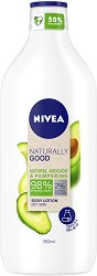 Nivea Naturally Good Natural Avocado & Pampering Body Lotion - Хидратиращ лосион за тяло с натурално авокадо - душ гел