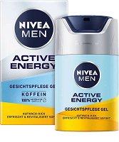Nivea Men Skin Energy Moisturising Gel - Хидратиращ и енергизиращ гел за лице за мъже с кофеин - дезодорант