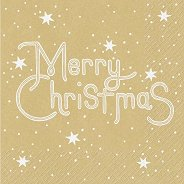 Салфетки за декупаж - Merry Christmas - Пакет от 20 броя
