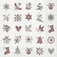Салфетки за декупаж - Коледни фигурки - Пакет от 20 броя