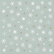 Салфетки за декупаж - Снежинки - Пакет от 20 броя