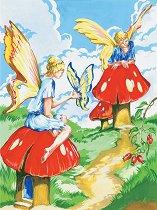 Рисуване по номера с акрилни бои - Феи