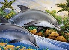 Рисуване по номера с акрилни бои - Делфини