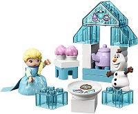 """Чаеното парти на Елза и Олаф - Детски конструктор от серията """"LEGO Duplo"""" - раница"""