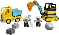 """Камион и верижен багер - Детски конструктор от серията """"LEGO Duplo"""" -"""