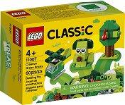 """Детски конструктор със зелени части в кутия - От серията """"LEGO Classic"""" - играчка"""